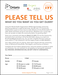 WS YOU 177 Age-Friendly Community Comments Form
