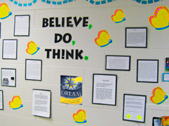 Students at St. James School share the Believe, Do, Think of their dreams