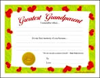 Greatest Grandparent (Red Heart Border)