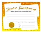 Greatest Grandparent (Yellow Star Border)