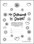 My Grandma is Great! (Color-in Border)