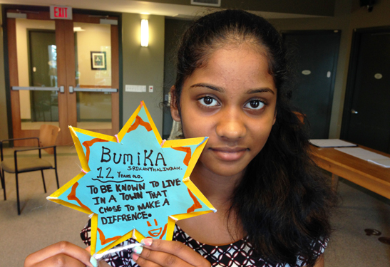 12-year-old Bumika's dream is to live in a town that chose to make a difference