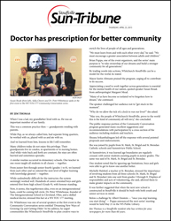 Doctor has prescription for better community